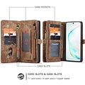 CaseMe CaseMe - Samsung Galaxy S20 Plus hoesje - 2 in 1 Wallet Book Case - Bruin