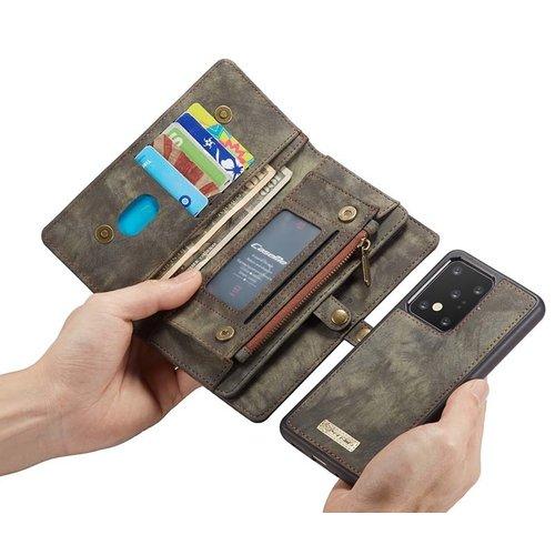 CaseMe CaseMe - Samsung Galaxy S20 Ultra hoesje - 2 in 1 Wallet Book Case - Zwart