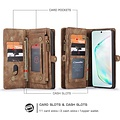 CaseMe CaseMe - Samsung Galaxy S20 Ultra hoesje - 2 in 1 Wallet Book Case - Bruin