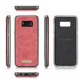 CaseMe CaseMe - Samsung Galaxy S8 Plus hoesje - Wallet Book Case met Ritssluiting - Rood