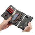 CaseMe CaseMe - iPhone 11 hoesje - 2 in 1 Wallet Book Case - Zwart