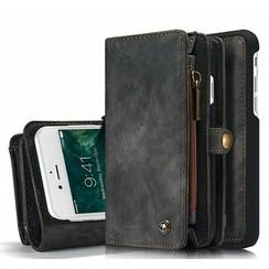 CaseMe - iPhone 7/8/SE 2020 Hoesje - 2 in 1 Wallet Book Case - Zwart