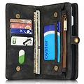 CaseMe CaseMe - iPhone 7/8/SE 2020 Hoesje - 2 in 1 Wallet Book Case - Zwart