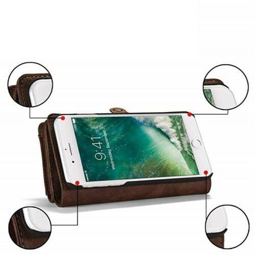 CaseMe CaseMe - iPhone 7/8/SE 2020 Hoesje - 2 in 1 Wallet Book Case - Bruin