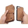 CaseMe CaseMe - iPhone 7/8/SE 2020 hoesje - Wallet Book Case met Ritssluiting - Bruin