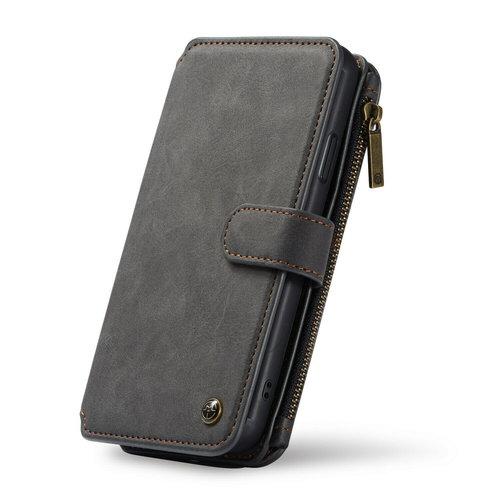 CaseMe CaseMe - iPhone XR hoesje - Wallet Book Case met Ritssluiting - Zwart