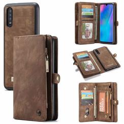 CaseMe - Huawei P30 hoesje - 2 in 1 Wallet Book Case - Bruin
