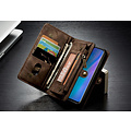 CaseMe CaseMe - Huawei P30 hoesje - 2 in 1 Wallet Book Case - Bruin