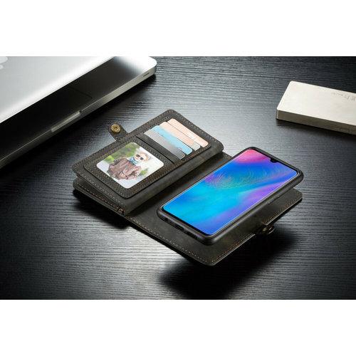CaseMe CaseMe - Huawei P30 Lite hoesje - 2 in 1 Wallet Book Case - Zwart