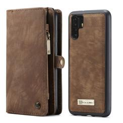 CaseMe - Huawei P30 Pro hoesje - 2 in 1 Wallet Book Case - Bruin