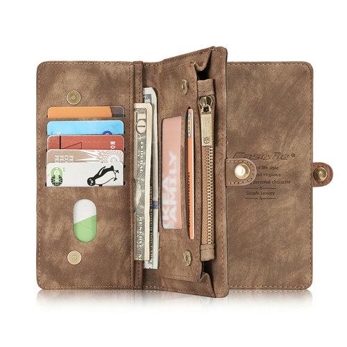 CaseMe CaseMe - Huawei P30 Pro hoesje - 2 in 1 Wallet Book Case - Bruin