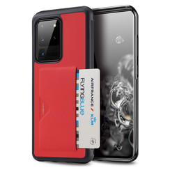 Samsung Galaxy S20 Ultra Case - Dux Ducis Pocard Back Cover - Red