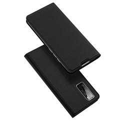 Dux Ducis - Case for Honor 30 Pro (Plus) - Ultra Slim PU Leather Flip Folio Case Whiteh Magnetic Closure - Black
