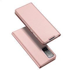 Dux Ducis - Case for Honor 30 Pro (Plus) - Ultra Slim PU Leather Flip Folio Case Whiteh Magnetic Closure - Pink