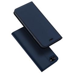 Dux Ducis - Case for iPhone SE 2020 - Ultra Slim PU Leather Flip Folio Case Whiteh Magnetic Closure - Blue