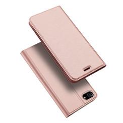 Dux Ducis - Case for iPhone SE 2020 - Ultra Slim PU Leather Flip Folio Case Whiteh Magnetic Closure - Rosé Gold