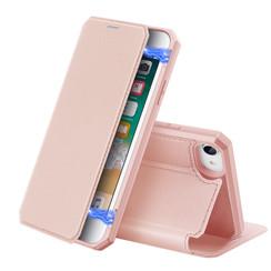 Dux Ducis - Case for Apple iPhone SE 2020 - Skin X Series Magnetic Flip Case Whiteh Card Slot - Pink