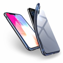 Light TPU Case - iPhone X / XS - Transparant / Blauw