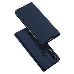 Dux Ducis - Case for Motorola Moto G Pro - Ultra Slim PU Leather Flip Folio Case Whiteh Magnetic Closure - Blue