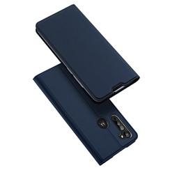 Motorola Moto G8 hoesje - Dux Ducis Skin Pro Book Case - Donker Blauw