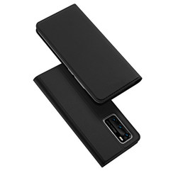 Dux Ducis - Case for Huawei P40 - Ultra Slim PU Leather Flip Folio Case Whiteh Magnetic Closure - Black