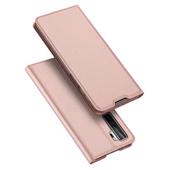 Dux Ducis - Case for Huawei P40 Lite - Ultra Slim PU Leather Flip Folio Case Whiteh Magnetic Closure - Pink