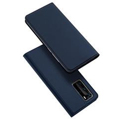Dux Ducis - Case for Huawei P40 Pro - Ultra Slim PU Leather Flip Folio Case Whiteh Magnetic Closure - Blue