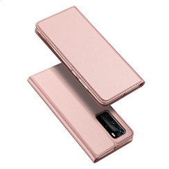 Dux Ducis - Case for Huawei P40 Pro - Ultra Slim PU Leather Flip Folio Case Whiteh Magnetic Closure - Pink