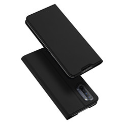 Dux Ducis - Case for Oppo Reno 3 - Ultra Slim PU Leather Flip Folio Case Whiteh Magnetic Closure - Black