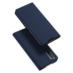 Dux Ducis - Case for Oppo Reno 3 - Ultra Slim PU Leather Flip Folio Case Whiteh Magnetic Closure - Blue