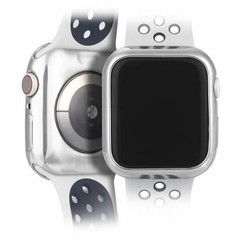 Apple Watch Series 4/5 hoesje - 40mm - TPU Cover - Zilver / Transparant (2-Pack)