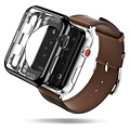 Dux Ducis Apple Watch Series 4/5 hoesje - 40mm  - TPU Cover - Zwart / Transparant (2-Pack)