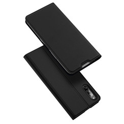Dux Ducis - Case for Sony Xperia L4 - Ultra Slim PU Leather Flip Folio Case Whiteh Magnetic Closure - Black