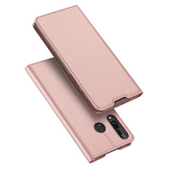 Dux Ducis - Case for Huawei Y6P - Ultra Slim PU Leather Flip Folio Case Whiteh Magnetic Closure - Pink