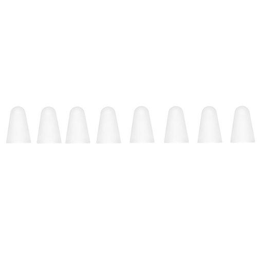 Dux Ducis Dux Ducis - Apple Pencil 1/2 Case -  Siliconen Tip Hoes - 10 Stuks - Wit/Transparant