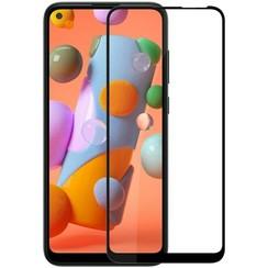 Samsung Galaxy A11 - Full Cover Screenprotector - Gehard Glas - Zwart