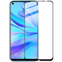 Huawei Mate 30 Lite - Full Cover Screenprotector - Gehard Glas - Zwart