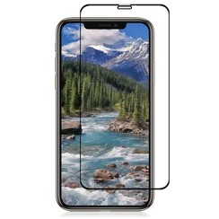 iPhone XS Max - Full Cover Screenprotector - Gehard Glas - Zwart