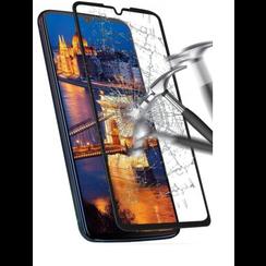 Motorola One Zoom - Full Cover Screenprotector - Gehard Glas - Zwart