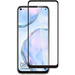 Huawei P40 Lite Screenprotector - Full Cover Screenprotector - Gehard Glas - Black