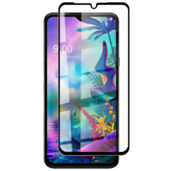 LG V50s ThinQ - Full Cover Screenprotector - Gehard Glas - Zwart
