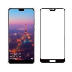 Huawei P20 - Full Cover Screenprotector - Gehard Glas - Zwart