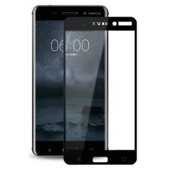 Nokia 7 - Full Cover Screenprotector - Gehard Glas - Zwart
