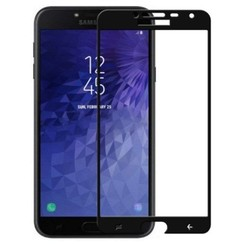 Samsung Galaxy J4 2018 - Full Cover Screenprotector - Gehard Glas - Zwart