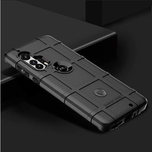 Cover2day Case for Motorola Moto E6s - Heavy Duty Armor Shockproof TPU Cover - Black