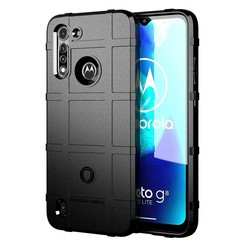 Case for Motorola Moto G8 - Heavy Duty Armor Shockproof TPU Cover - Black