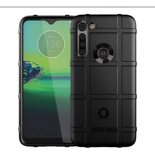 Cover2day Case for Motorola Moto G8 - Heavy Duty Armor Shockproof TPU Cover - Black
