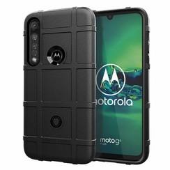 Motorola Moto G8 Plus Case - Heavy Armor TPU Case - Zwart
