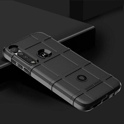 Cover2day Case for Motorola Moto G8 Plus Case - Heavy Armor TPU Case - Black