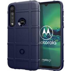Motorola Moto G8 Plus Case - Heavy Armor TPU Case - Blauw